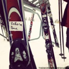 My resting rental skis from Vail Mountain, proudly delcared as mine!