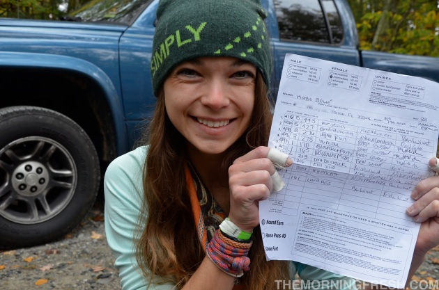 Proudly showing off my score sheet - it may not have been a 1st place qualifier, but it was my strongest day ever.