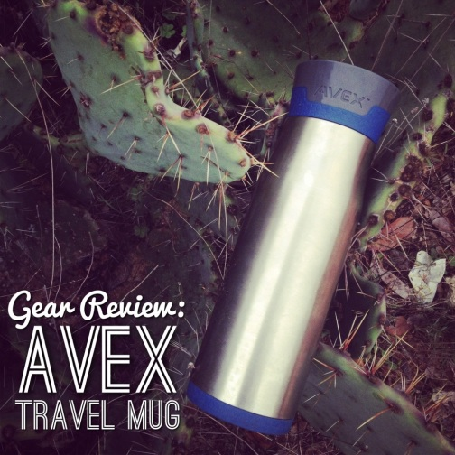 My AVEX travel mug got buddy-buddy with the cacti out at Pace Bend Park in Texas.