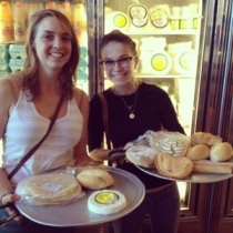 Teresa and I show off our goodies from El Bolillo Bakery in Houston, Texas.