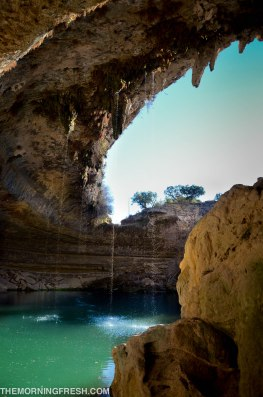 This incredible cave at Hamilton Pool Park in Texas is mind-blowing. How does it not collapse?!