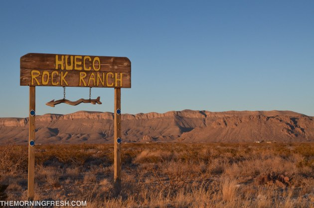 To the Hueco Rock Ranch!